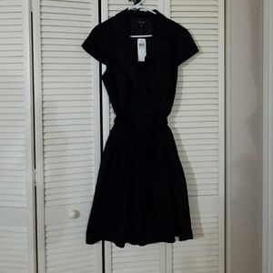 ♠️NWT Black mini plunging neckline